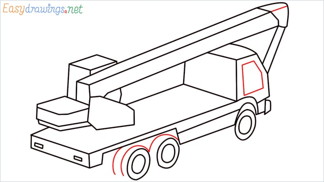 How to draw a Crane truck step (11)