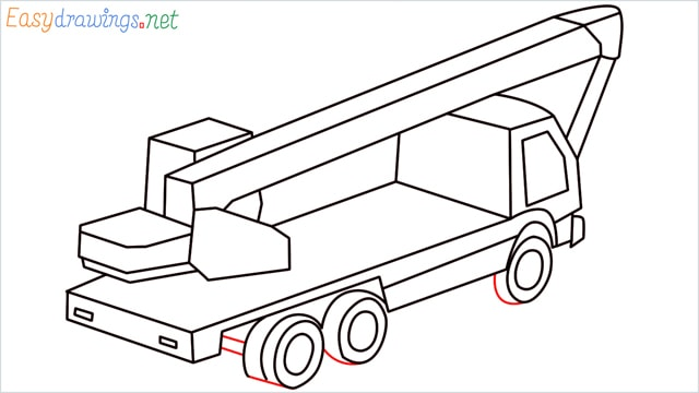 How to draw a Crane truck step (12)