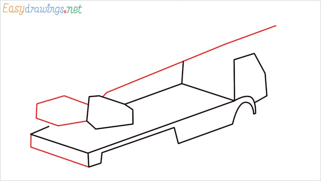 How to draw a Crane truck step (4)