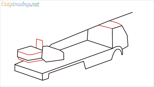 How to draw a Crane truck step (5)