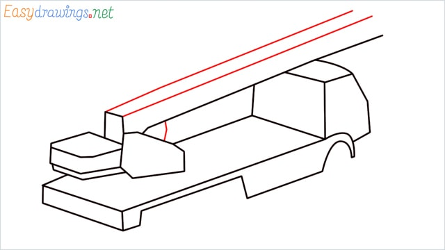 How to draw a Crane truck step (6)