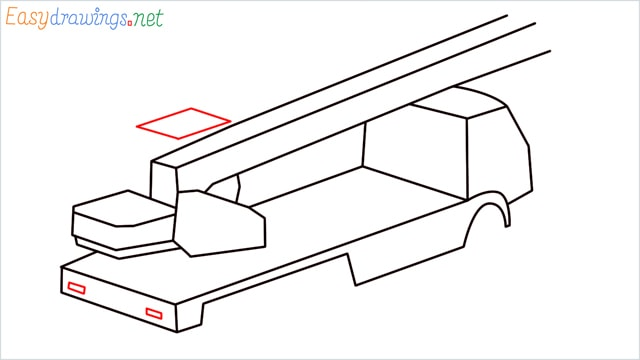How to draw a Crane truck step (7)