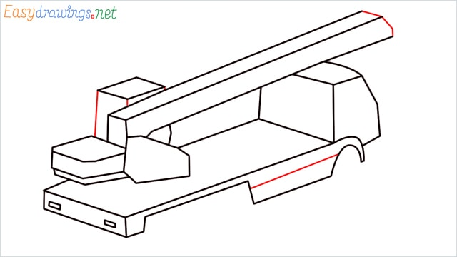 How to draw a Crane truck step (8)
