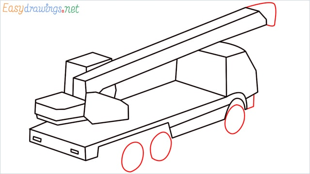 How to draw a Crane truck step (9)