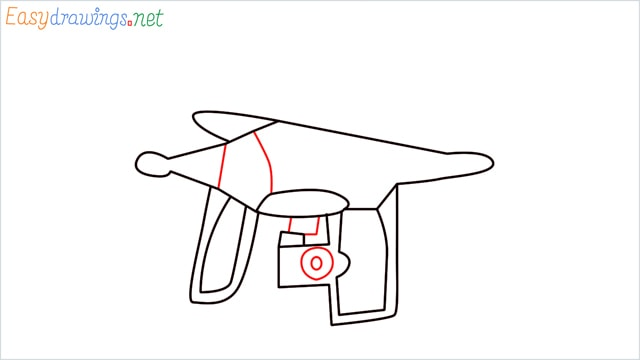 How to draw a Drone step (5)