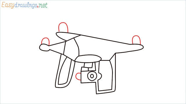 How to draw a Drone step (6)