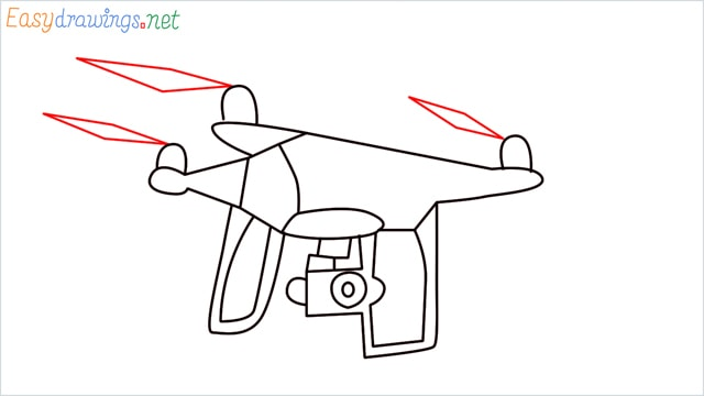 How to draw a Drone step (7)