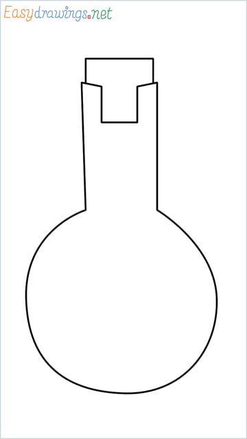 How to draw a Flasks step by step