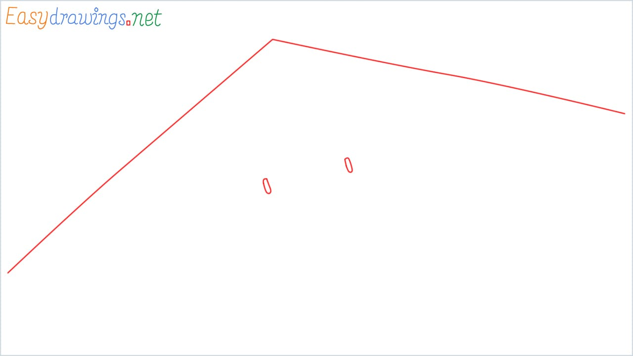 How to draw a Hang glider step (1)