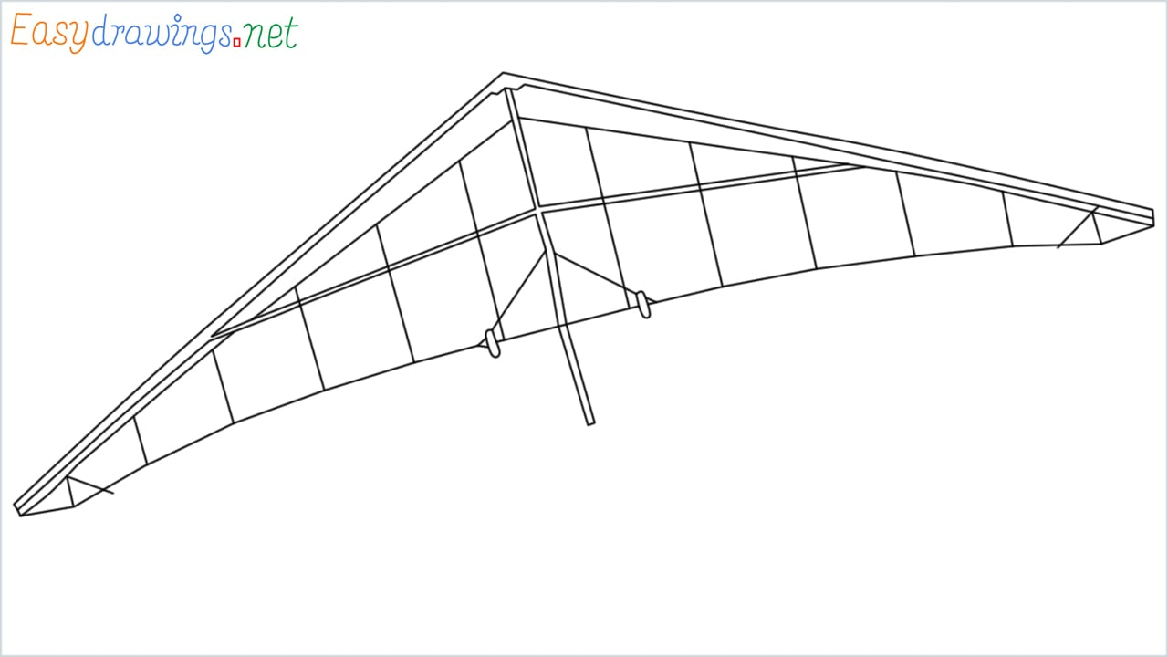 How to draw a Hang glider step by step