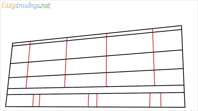 How to draw a High-rise building step (4)