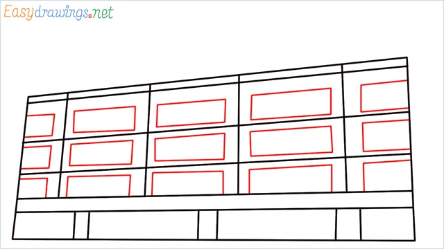 How to draw a High-rise building step (5)