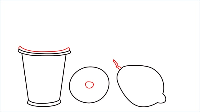 How to draw a Lemon and Juice step (3)