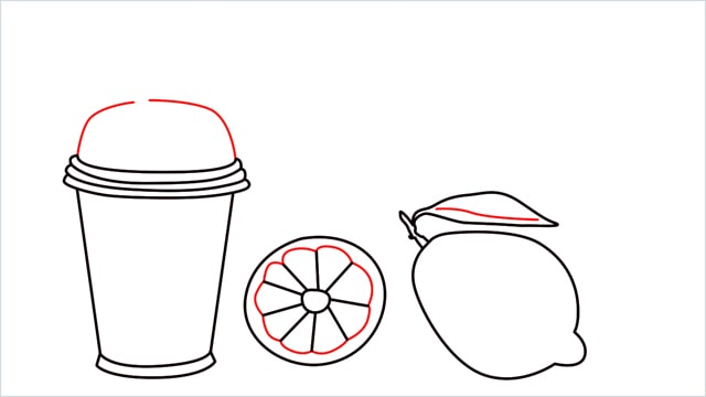 How to draw a Lemon and Juice step (5)