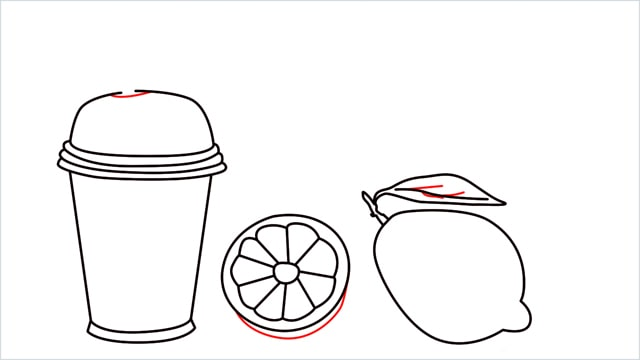 How to draw a Lemon and Juice step (6)