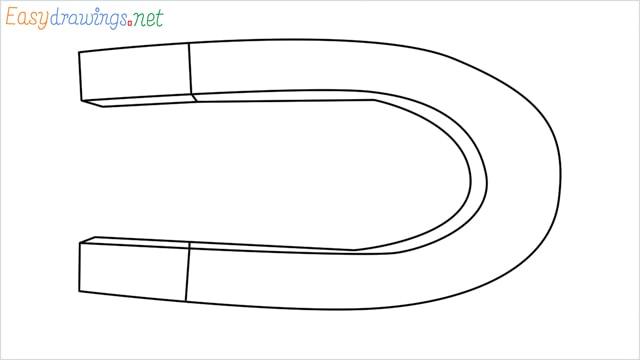 How to draw a Magnet step by step
