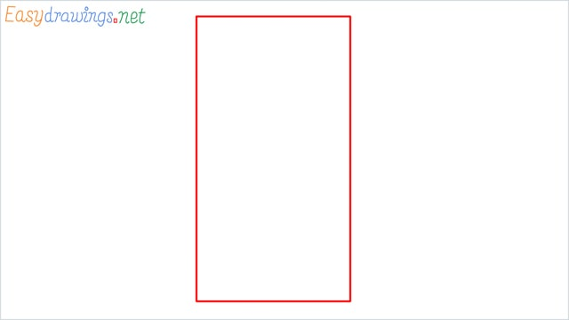 How to draw a Mobile phone step (1)