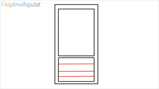 How to draw a Mobile phone step (3)