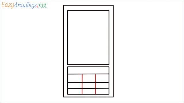 How to draw a Mobile phone step (4)
