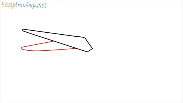 How to draw a Scissors step (2)