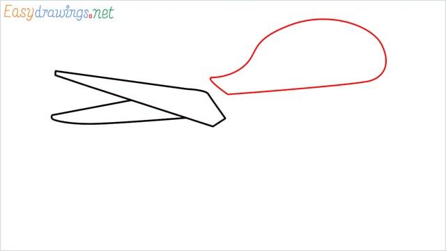 How to draw a Scissors step (3)
