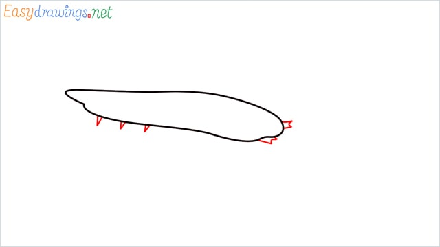 How to draw a Silverfish step (2)