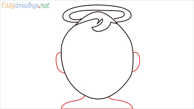 How to draw an Baby Angel step (4)