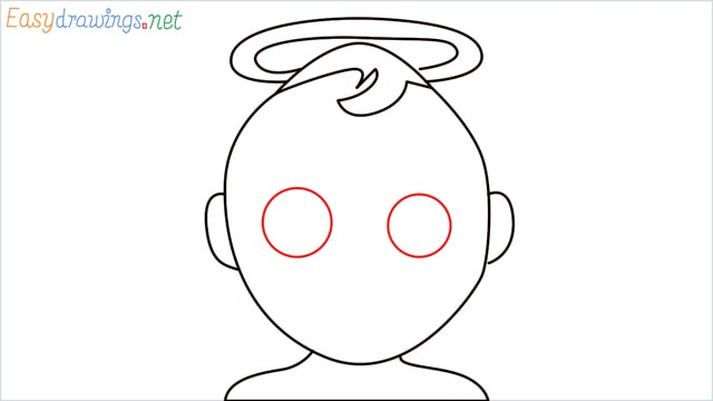 How to draw an Baby Angel step (5)