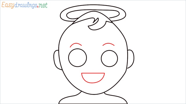 How to draw an Baby Angel step (6)