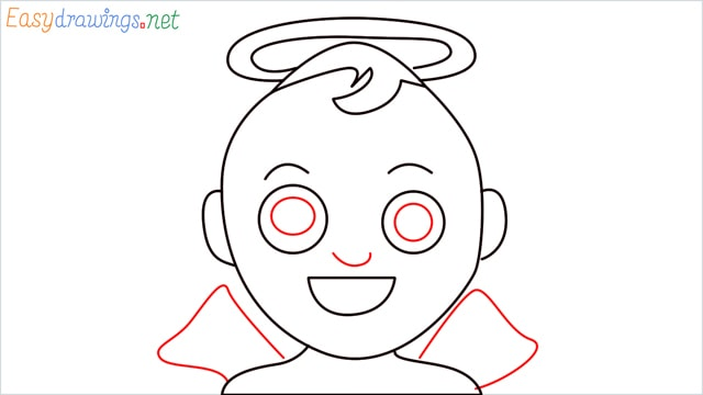 How to draw an Baby Angel step (7)