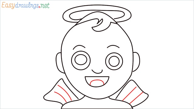 How to draw an Baby Angel step (8)