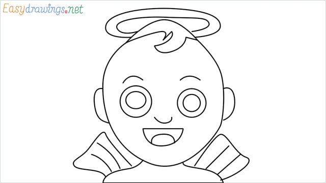 How to draw an Baby Angel step by step
