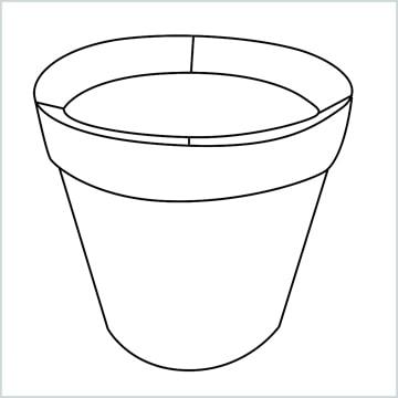 flower pot drawing