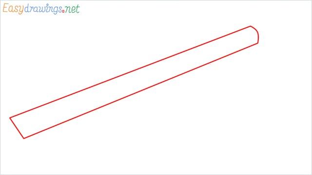how to draw Barrett M82 Sniper Rifle step (1)