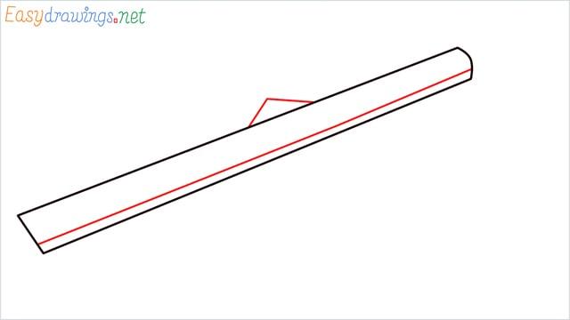 how to draw Barrett M82 Sniper Rifle step (2)