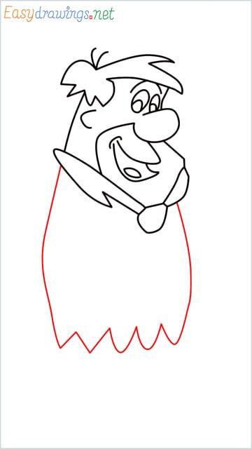 how to draw Flintstone step (10)