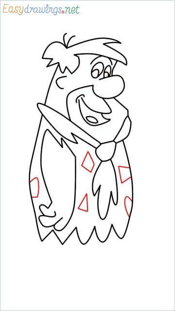 how to draw Flintstone step (13)
