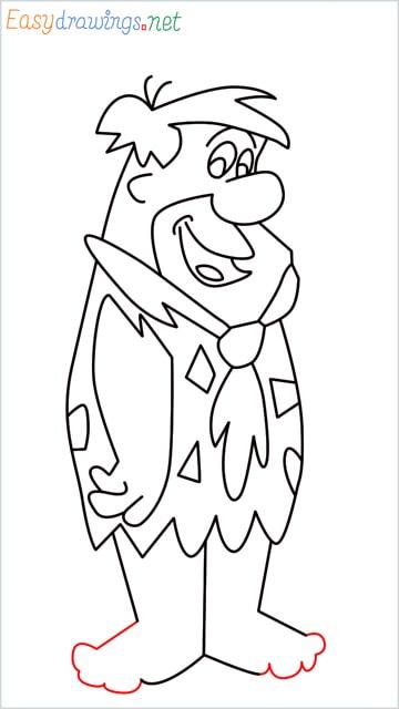 how to draw Flintstone step (15)