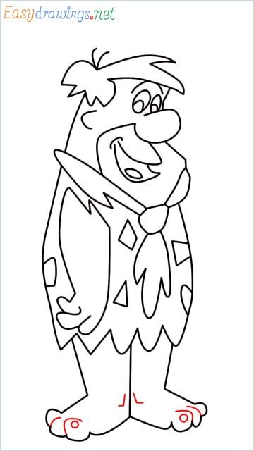 how to draw Flintstone step (16)