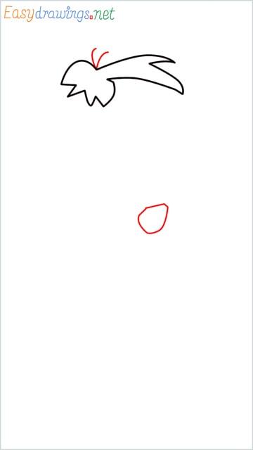 how to draw Flintstone step (3)