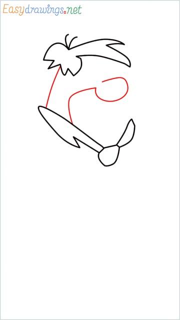 how to draw Flintstone step (5)