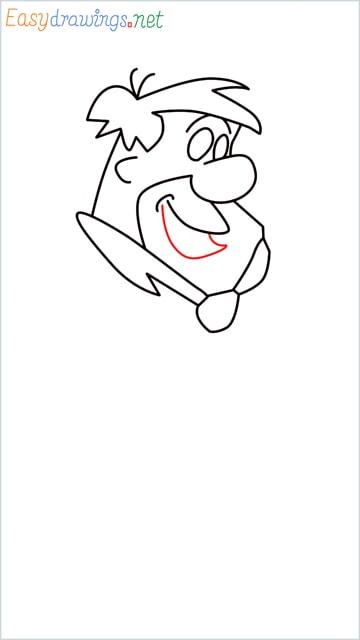 how to draw Flintstone step (8)