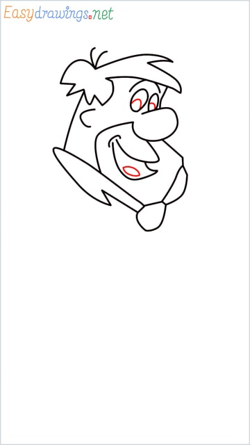 how to draw Flintstone step (9)