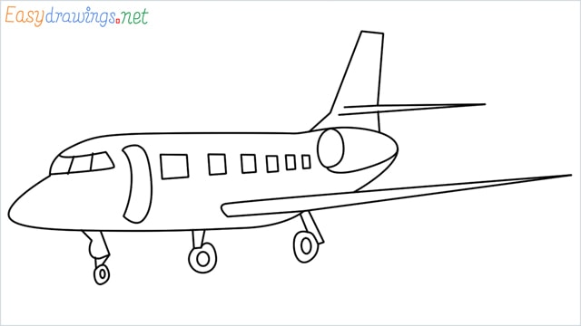 how to draw a airbus step by step