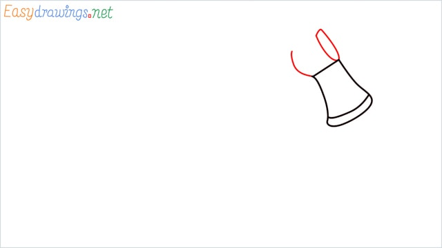 how to draw a axe step (3)
