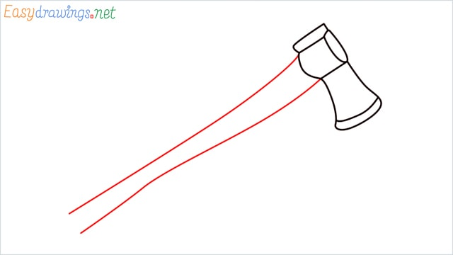 how to draw a axe step (5)