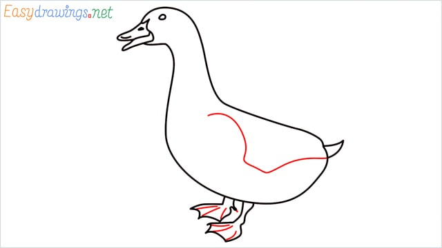 how to draw a baby duck step (7)