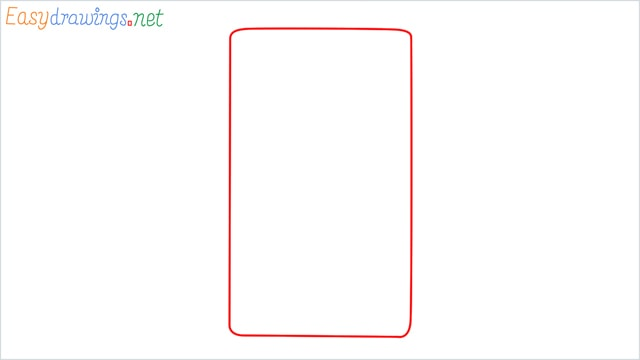 how to draw a calculator step (1)