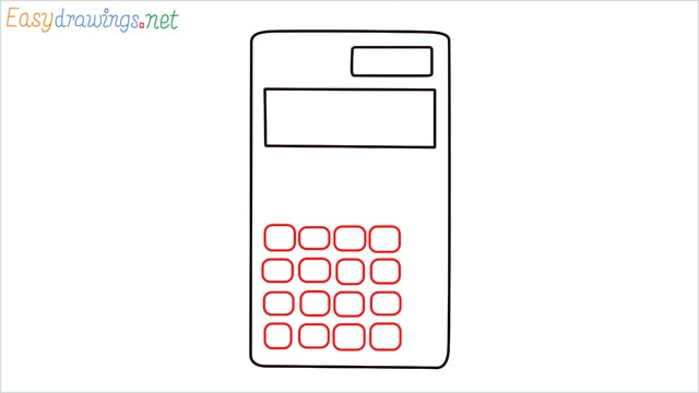 how to draw a calculator step (3)