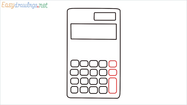 how to draw a calculator step (4)
